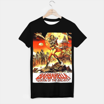Fashion art and decor items of Barbarella Sci-fi Movie Poster T-shirt regular thumbnail image