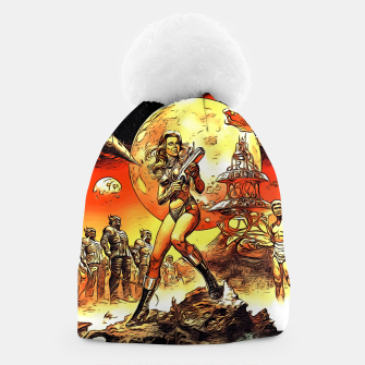 Fashion art and decor items of Barbarella Sci-fi Movie Poster Beanie thumbnail image