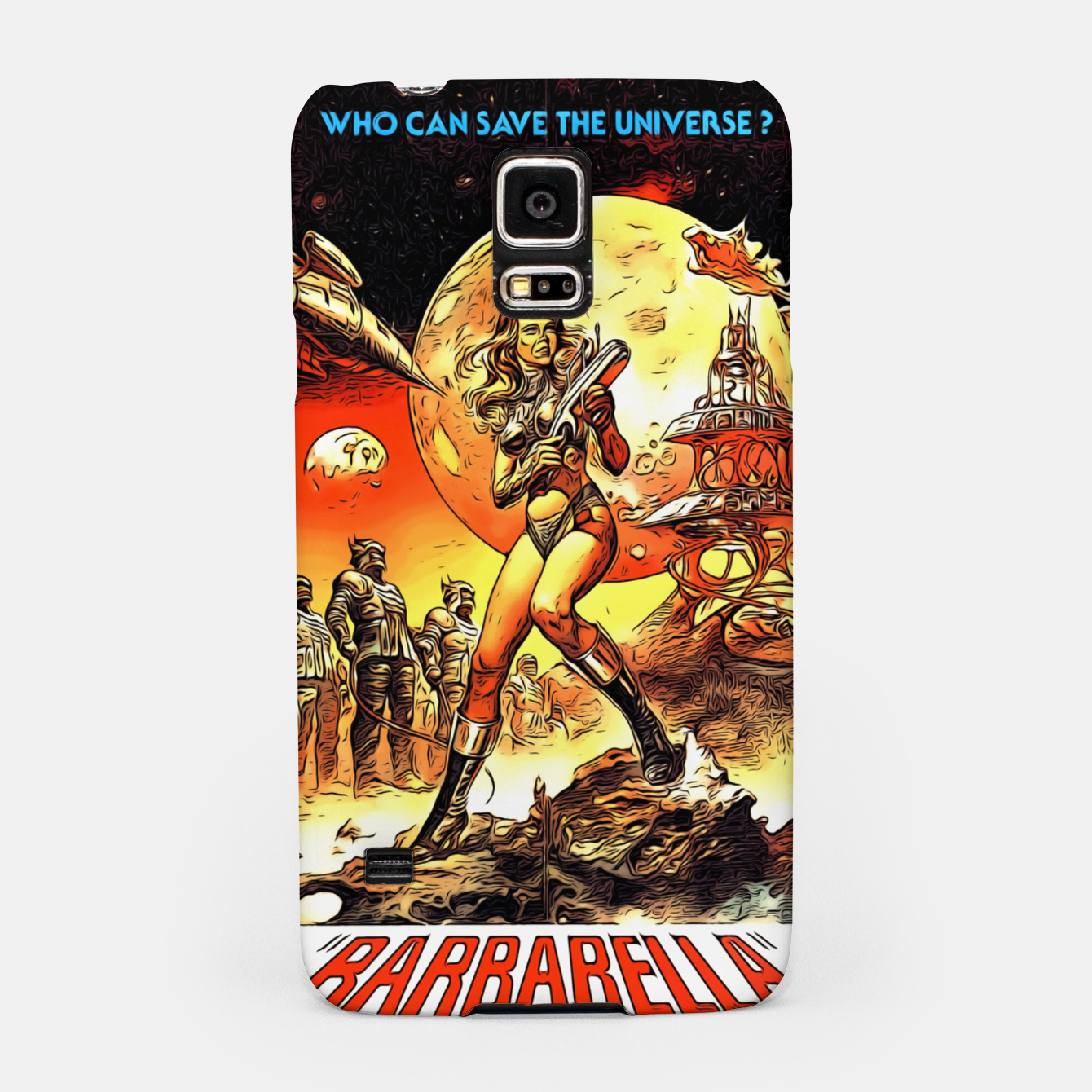 Image of Fashion art and decor items of Barbarella Sci-fi Movie Poster Samsung Case - Live Heroes