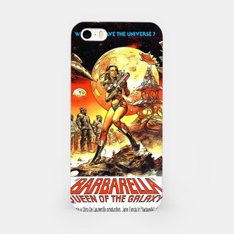 Fashion art and decor items of Barbarella Sci-fi Movie Poster iPhone Case thumbnail image