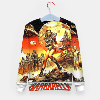Fashion art and decor items of Barbarella Sci-fi Movie Poster Kid's sweater thumbnail image