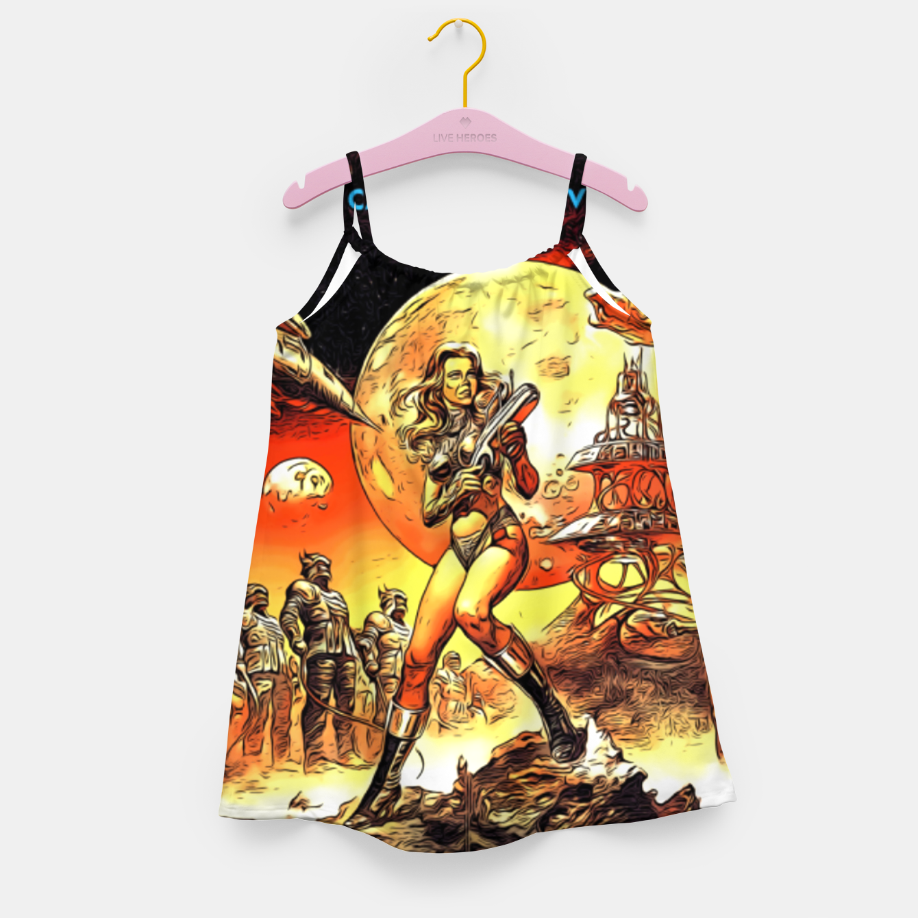 Image of Fashion art and decor items of Barbarella Sci-fi Movie Poster Girl's dress - Live Heroes
