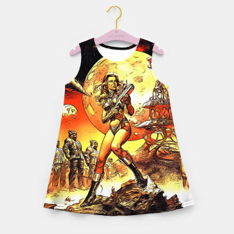 Fashion art and decor items of Barbarella Sci-fi Movie Poster Girl's summer dress thumbnail image