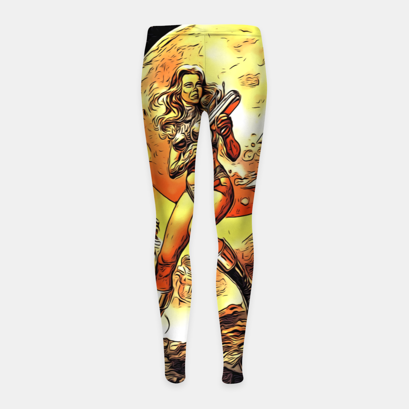 Image of Fashion art and decor items of Barbarella Sci-fi Movie Poster Girl's leggings - Live Heroes