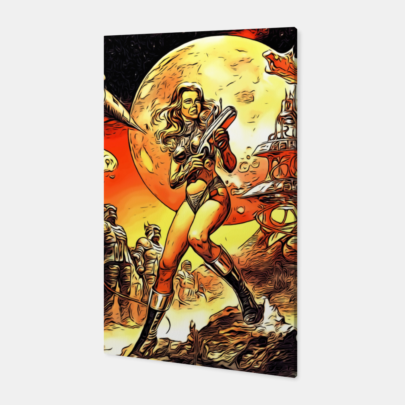 Image of Fashion art and decor items of Barbarella Sci-fi Movie Poster Canvas - Live Heroes