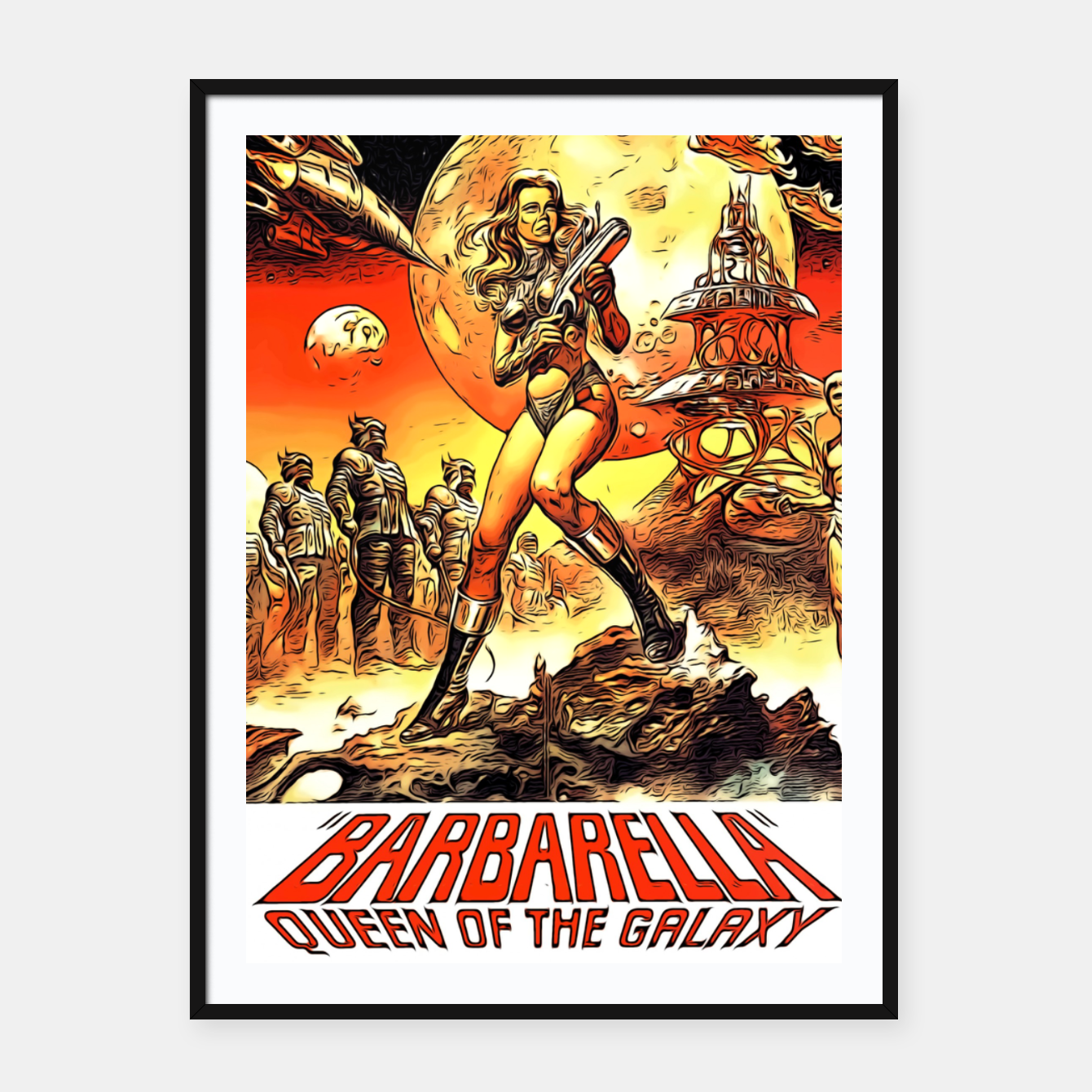 Image of Fashion art and decor items of Barbarella Sci-fi Movie Poster Framed poster - Live Heroes