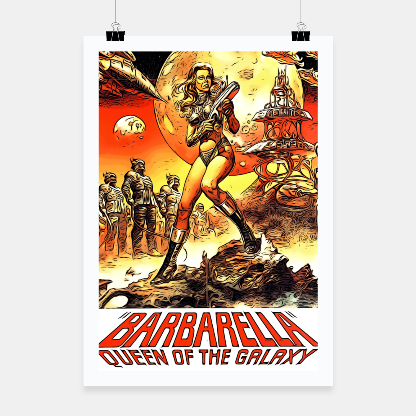 Image of Fashion art and decor items of Barbarella Sci-fi Movie Poster Poster - Live Heroes