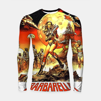 Fashion art and decor items of Barbarella Sci-fi Movie Poster Longsleeve rashguard  thumbnail image
