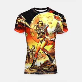 Fashion art and decor items of Barbarella Sci-fi Movie Poster Shortsleeve rashguard thumbnail image