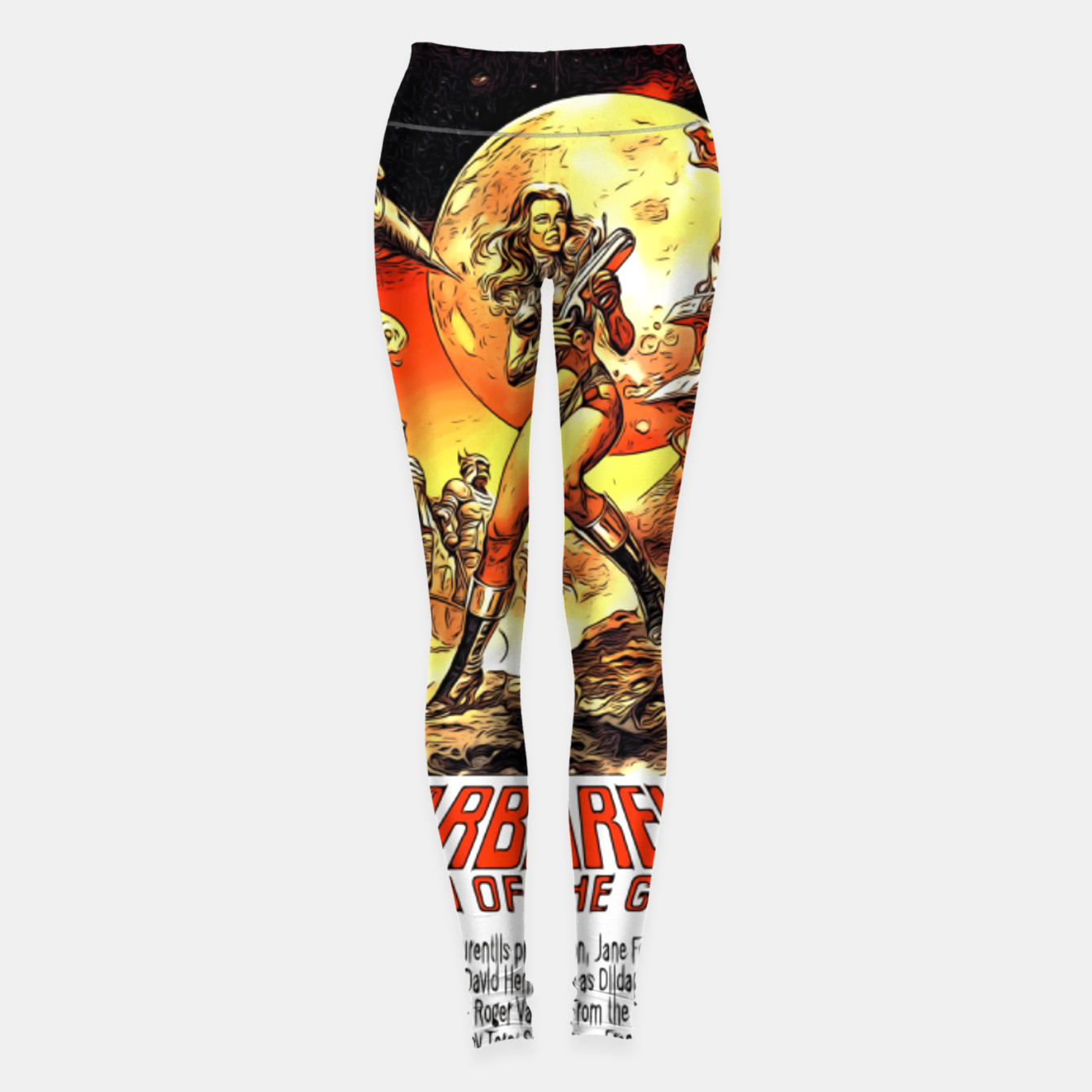 Image of Fashion art and decor items of Barbarella Sci-fi Movie Poster Leggings - Live Heroes