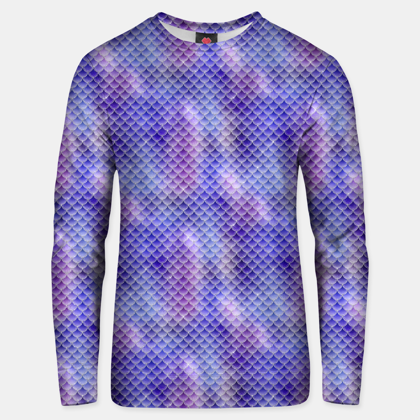 Image of Light Purple Pink and Blue Mermaid Glitter Scales Unisex sweater - Live Heroes