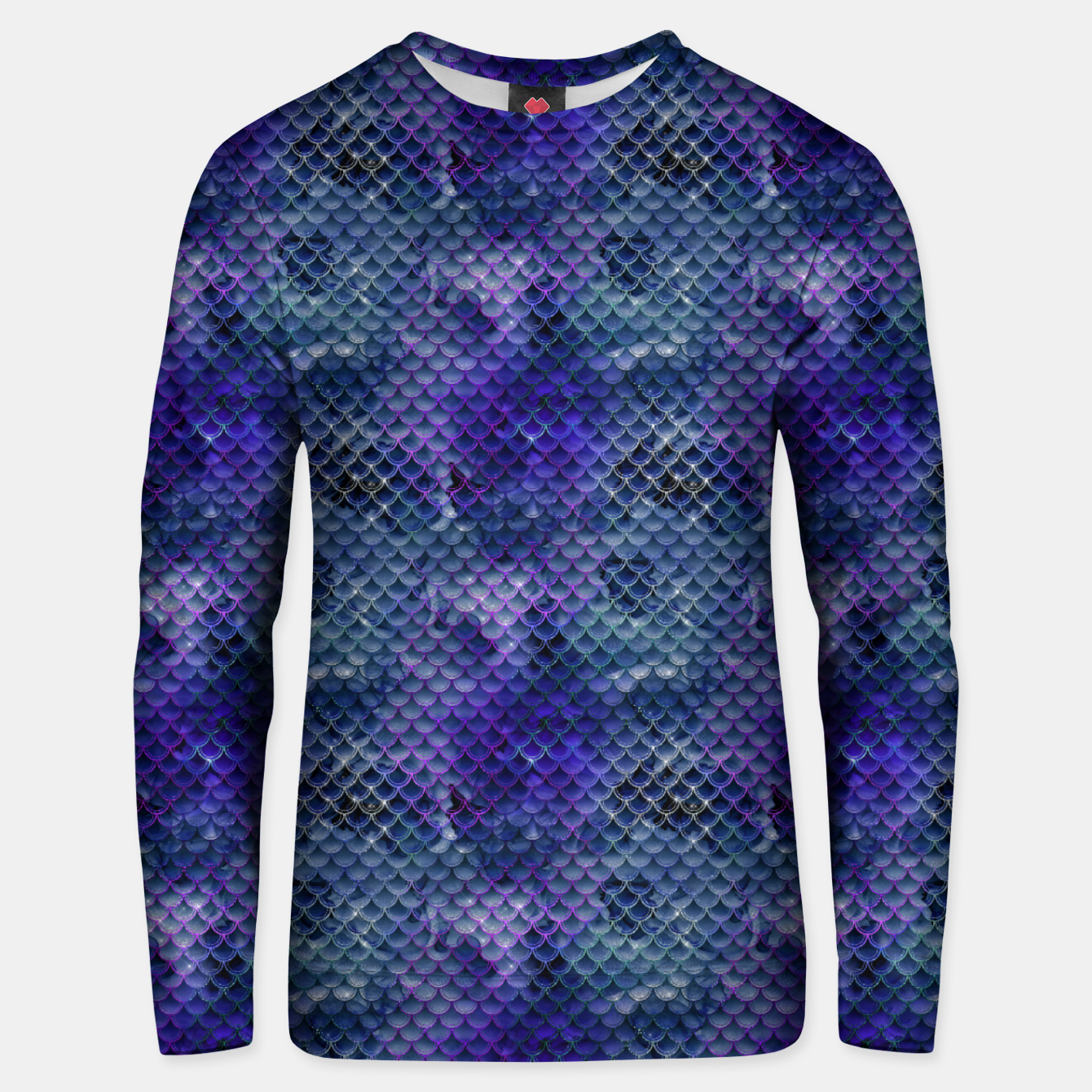 Image of Purple and Pale Blue Mermaid Glitter Scales Unisex sweater - Live Heroes