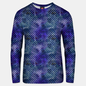 Miniatur Purple and Pale Blue Mermaid Glitter Scales Unisex sweater, Live Heroes