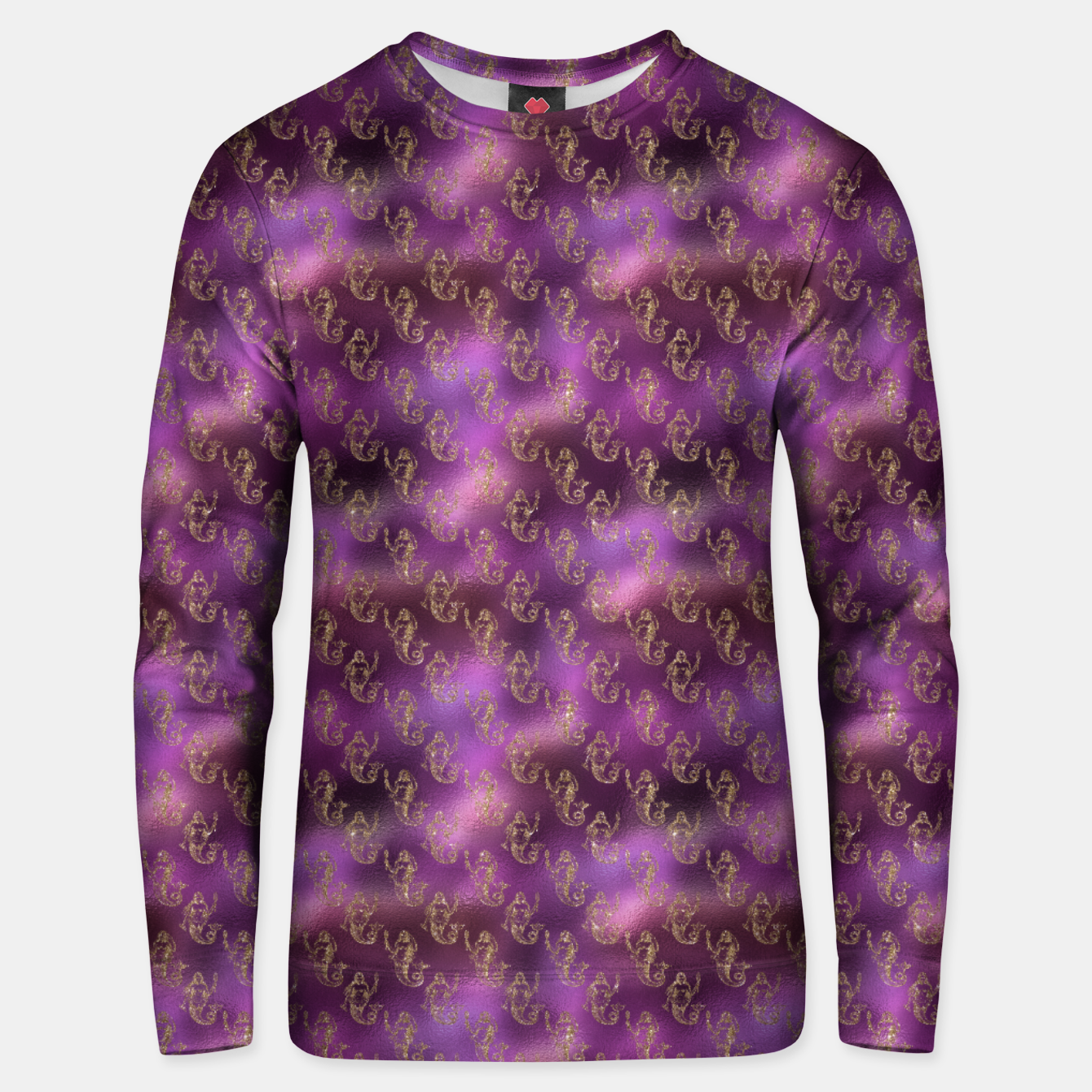 Image of Pink and Gold Glitter Mermaids Unisex sweater - Live Heroes