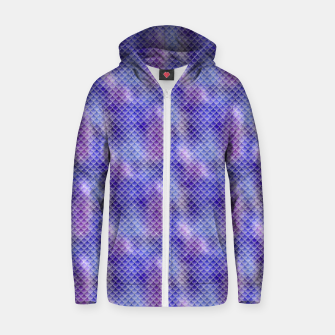 Thumbnail image of Light Purple Pink and Blue Mermaid Glitter Scales Zip up hoodie, Live Heroes