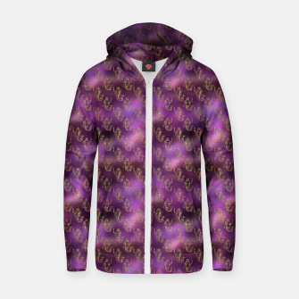 Thumbnail image of Pink and Gold Glitter Mermaids Zip up hoodie, Live Heroes