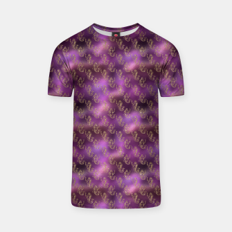 Miniatur Pink and Gold Glitter Mermaids T-shirt, Live Heroes