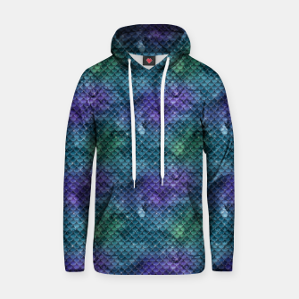 Purple Aqua Green and Gold Glitter Mermaid Scales Hoodie thumbnail image