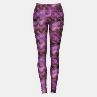Miniatur Pink and Gold Glitter Mermaids Leggings, Live Heroes