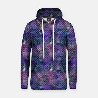 Pink Purple and Gold Glitter Mermaid Scales Hoodie imagen en miniatura