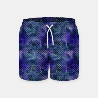 Thumbnail image of Purple and Pale Blue Mermaid Glitter Scales Swim Shorts, Live Heroes