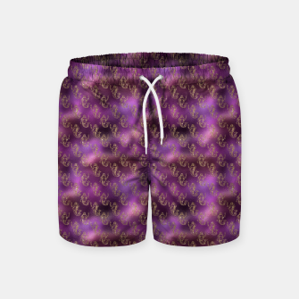 Miniatur Pink and Gold Glitter Mermaids Swim Shorts, Live Heroes