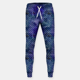 Miniatur Purple and Pale Blue Mermaid Glitter Scales Sweatpants, Live Heroes