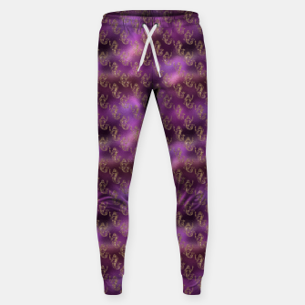 Miniatur Pink and Gold Glitter Mermaids Sweatpants, Live Heroes