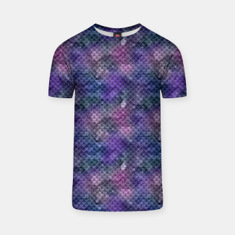 Pink Purple and Gold Glitter Mermaid Scales T-shirt imagen en miniatura