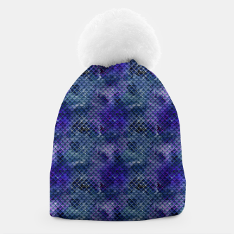 Thumbnail image of Purple and Pale Blue Mermaid Glitter Scales Beanie, Live Heroes