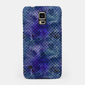 Thumbnail image of Purple and Pale Blue Mermaid Glitter Scales Samsung Case, Live Heroes