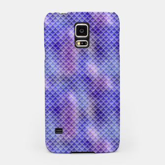 Miniatur Light Purple Pink and Blue Mermaid Glitter Scales Samsung Case, Live Heroes