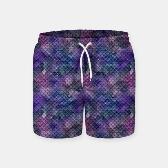 Pink Purple and Gold Glitter Mermaid Scales Swim Shorts imagen en miniatura