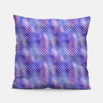 Light Purple Pink and Blue Mermaid Glitter Scales Pillow thumbnail image