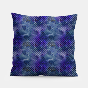Thumbnail image of Purple and Pale Blue Mermaid Glitter Scales Pillow, Live Heroes
