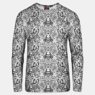 black and white portal pattern2 Unisex sweater thumbnail image