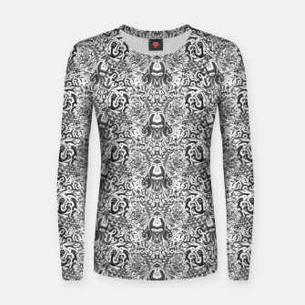 black and white portal pattern2 Women sweater thumbnail image