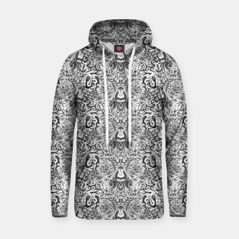 black and white portal pattern2 Hoodie thumbnail image