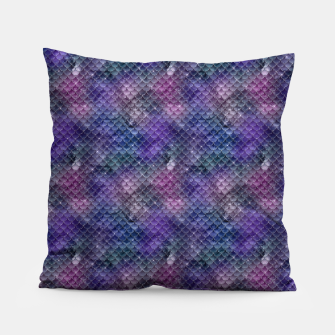 Pink Purple and Gold Glitter Mermaid Scales Pillow imagen en miniatura