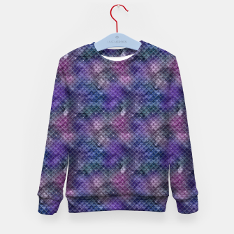 Pink Purple and Gold Glitter Mermaid Scales Kid's sweater imagen en miniatura