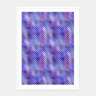 Light Purple Pink and Blue Mermaid Glitter Scales Framed poster thumbnail image