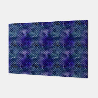 Thumbnail image of Purple and Pale Blue Mermaid Glitter Scales Canvas, Live Heroes