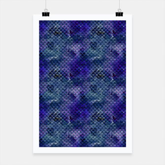 Miniatur Purple and Pale Blue Mermaid Glitter Scales Poster, Live Heroes