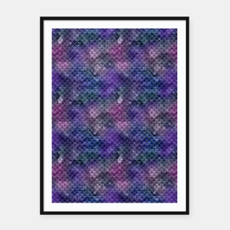 Pink Purple and Gold Glitter Mermaid Scales Framed poster imagen en miniatura