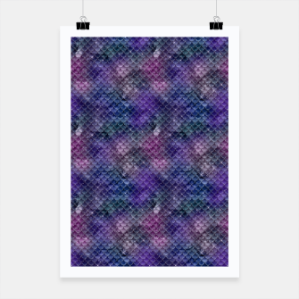 Miniatur Pink Purple and Gold Glitter Mermaid Scales Poster, Live Heroes