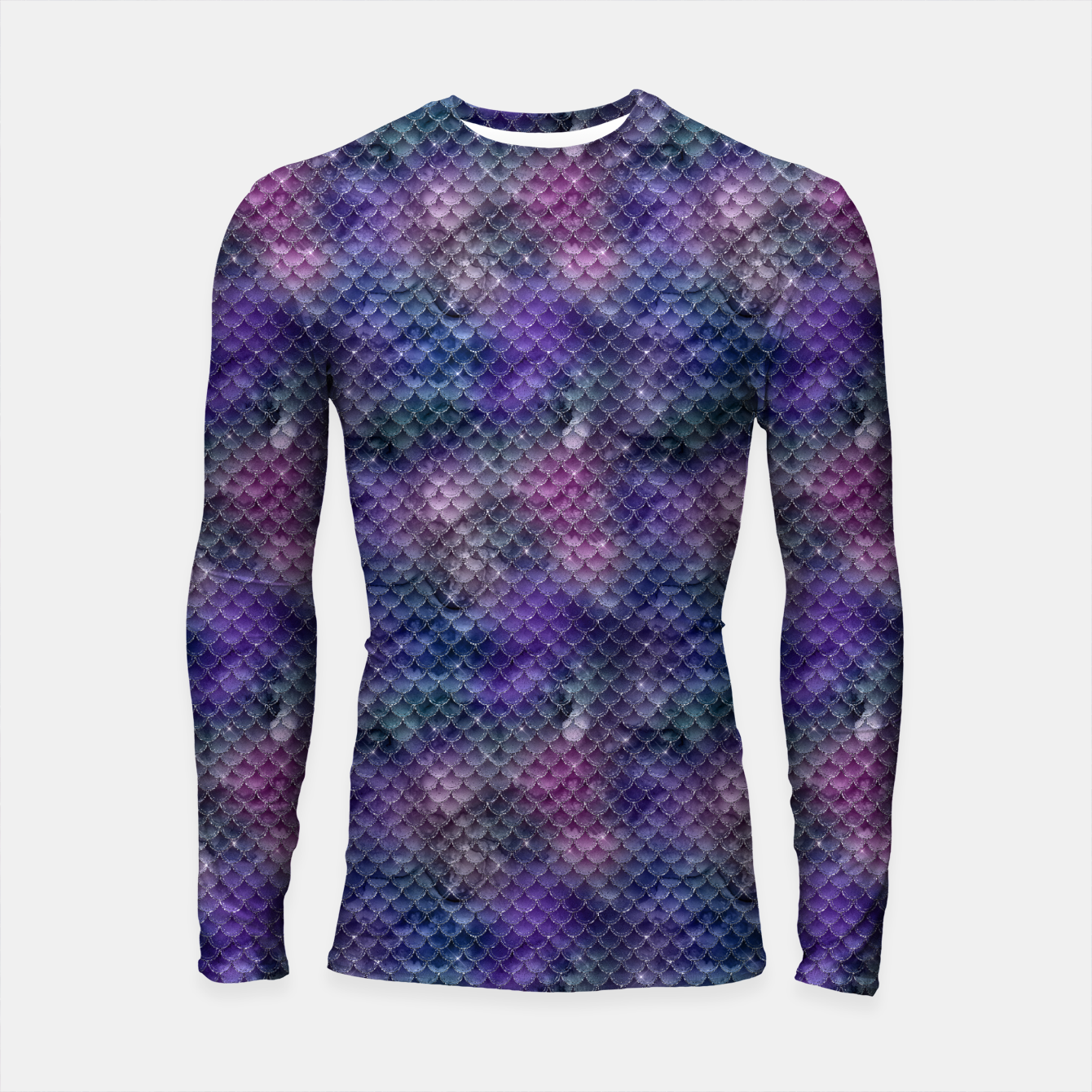 Imagen de Pink Purple and Gold Glitter Mermaid Scales Longsleeve rashguard  - Live Heroes