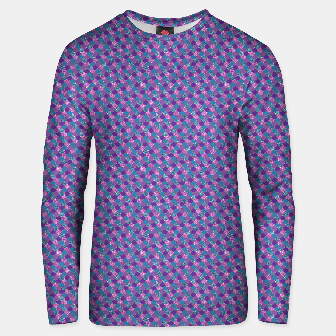 Image of Purple Aqua and Gold Glitter Mermaid Scales Unisex sweater - Live Heroes