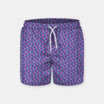 Imagen en miniatura de Purple Aqua and Gold Glitter Mermaid Scales Swim Shorts, Live Heroes