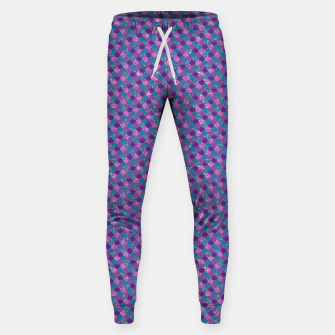 Purple Aqua and Gold Glitter Mermaid Scales Sweatpants imagen en miniatura