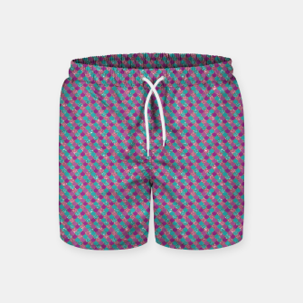 Purple Aqua and Gold Glitter Mermaid Scales Swim Shorts imagen en miniatura